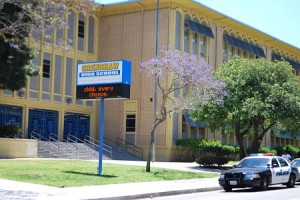 LAUSD has cut arts programs dramatically and is now looking to reinstate programs. Above, Crenshaw High School.