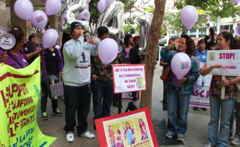 Domestic workers rally