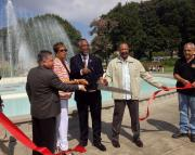Re-dedication of the central fountain at Exposition Park's Rose Garden. Photo by Victor  Figueroa and Julian DeOcampo.