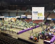 Care Harbor's free medical clinic at the L.A. Sports Arena.  Photo credit:  Danielle Tarasuik