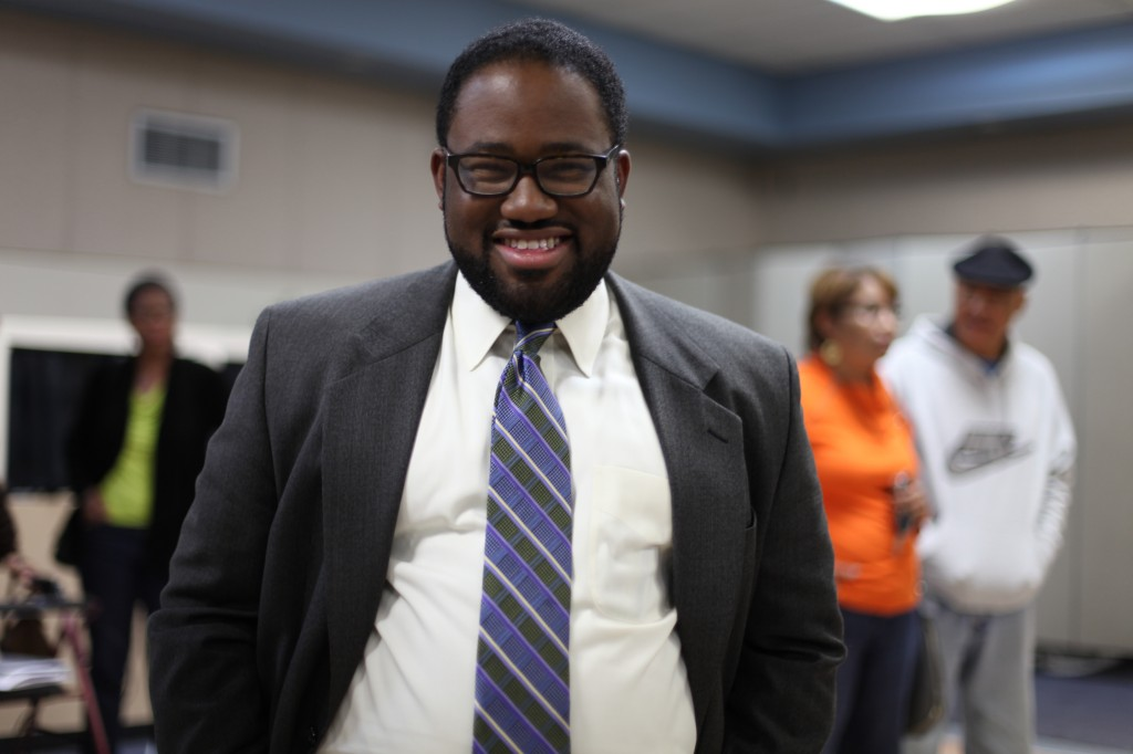 Sebastian Ridley-Thomas after the forum.