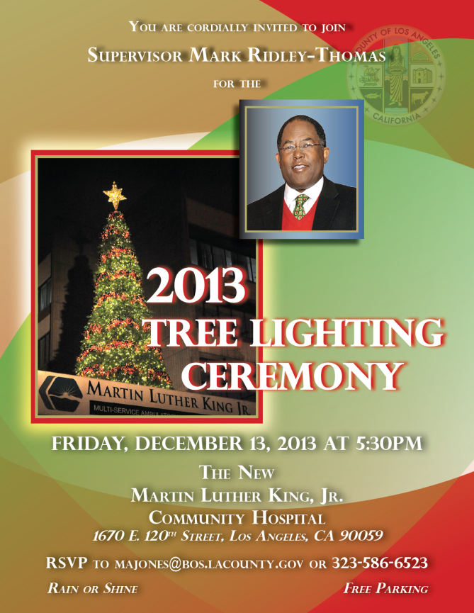 2nd District Tree Lighting Ceremony @ The New Martin Luther King Jr. Community Hospital | Los Angeles | California | United States