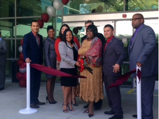 El Camino College Compton Center board and CEO Keith Curry cutting the ribbon that officially opens the college's Library-Student Success Center | Mona Khalifeh