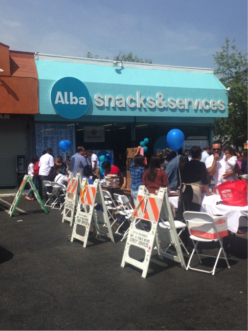 Alba Snacks & Services debuted its renovations on Mar. 30 with community activities, healthy food and smoothie samples. Local politicians, high school students and families attended. | Jordyn Holman
