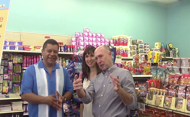 "Nelson Garcia welcomes visitors into his ""converted"" corner store. 