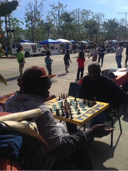 The People Street initiative would allow multiple generations of Angelenos to congregate in Leimert Park Village if the street is permanently closed off to make room for a plaza.
