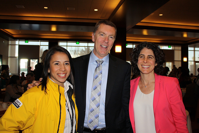 Vanessa Gonzalez with Superintendent John Deasy and Allison Graff-Weisner | City Year LA