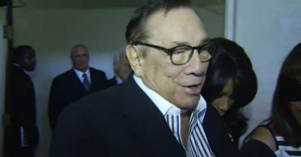 Donald Sterling at a South LA church | NBC screenshot