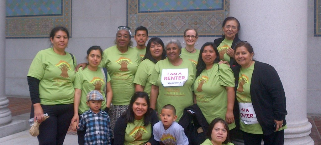 Trust South LA has a presence at Renters Day at City Hall.
