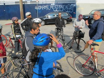 Bicyclists in South LA don't have enough space to ride safely on the roads. (Intersections South LA)