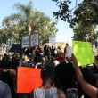 People gathered in Leimert Park to give a moment of silence and also vocalize their anger at police brutality | Alex Kanegawa