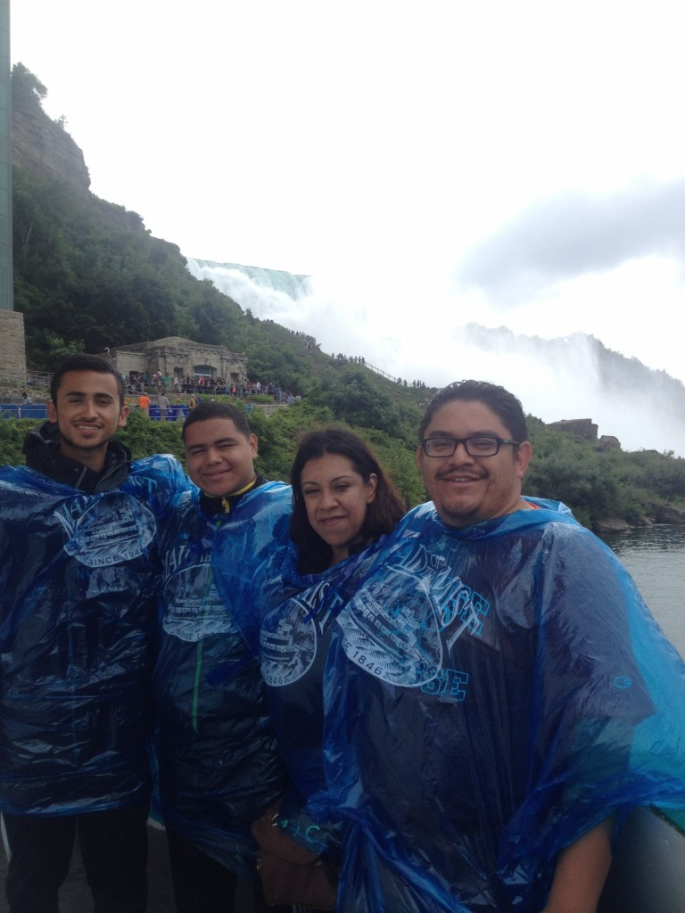 Jesus, Luis and Oscar at Niagra Falls, before settling into the dorms.