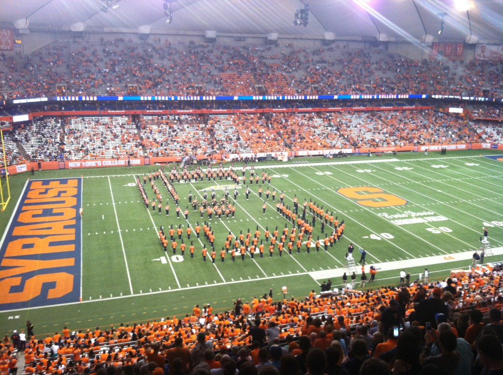 The football field at Syracuse.