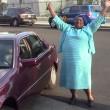 "Iris Stevenson arrives at Crenshaw High after being released from ""teacher jail."" | Amanda Scurlock"