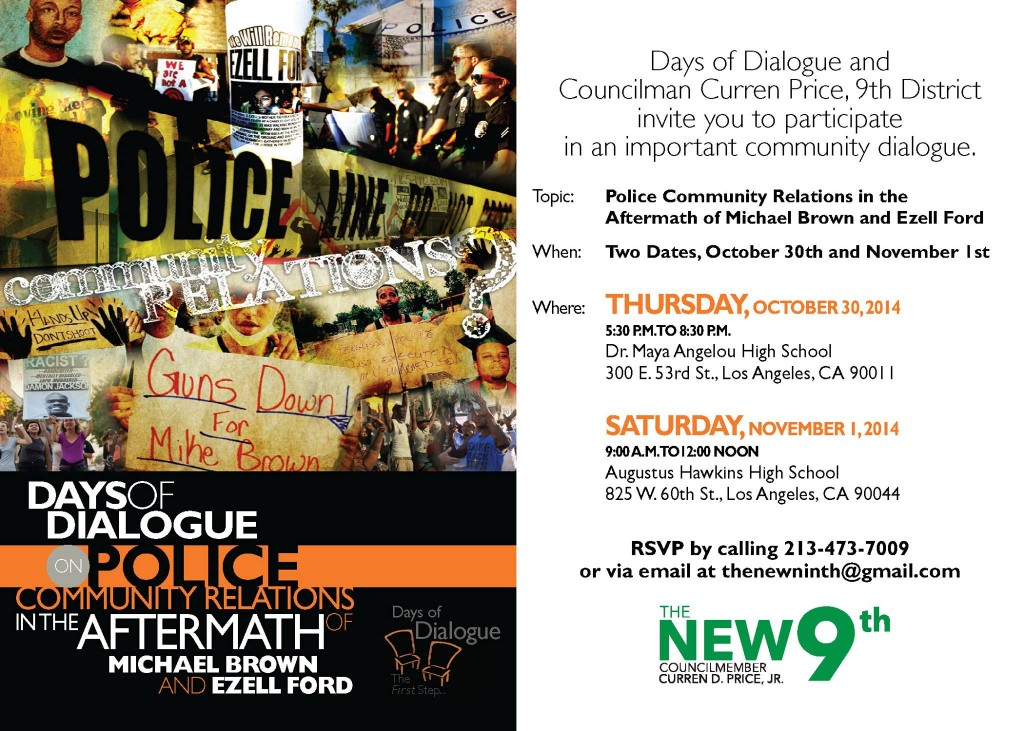 Days of Dialogue: Police Community Relations @ Dr. Maya Angelou High School  | Los Angeles | California | United States
