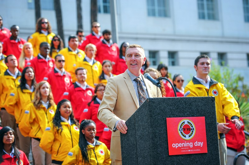 John Deasy speaks at a City Year event in 2013. | City Year