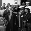 """Church Mothers"" stand outside the First AME Church in South LA, circa 1960. 