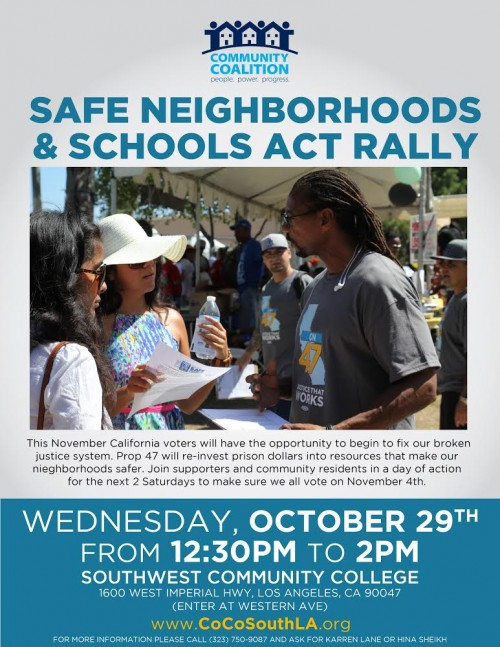 Prop 47 rally @ Southwest Community College | Los Angeles | California | United States
