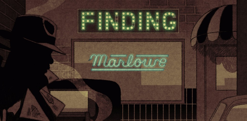"Reading ""Finding Marlowe"" on latimes.com -- complete with interactive, noir graphics. 
