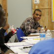 Beron Thompkins in class at the Black Male Youth Academy. | Photo courtesy of the Social Justice Learning Institute