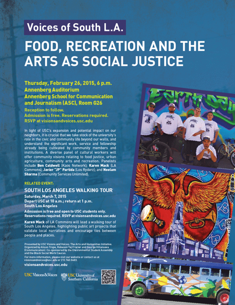 Voices of South LA: Food, Recreation and the Arts as Social Justice