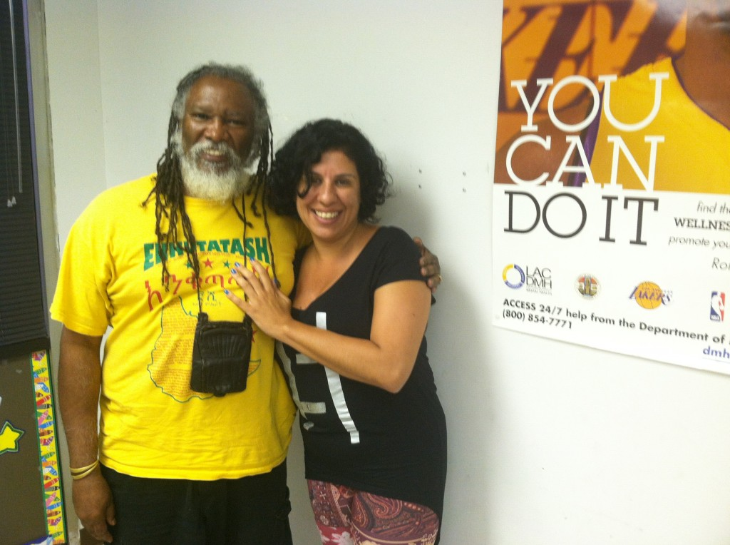 Carla Osorio, Brazilian Producer, City of God -- Ten Years Later with friend, Yaw F.L. Davis, Founding Director of the Pan African Technical Association | Tiffany Walton