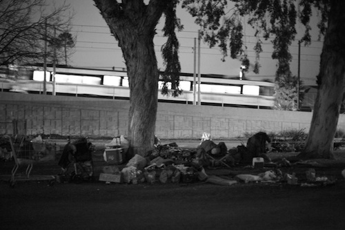 Homeless encampment in South L.A. | Photo by Stephanie Monte