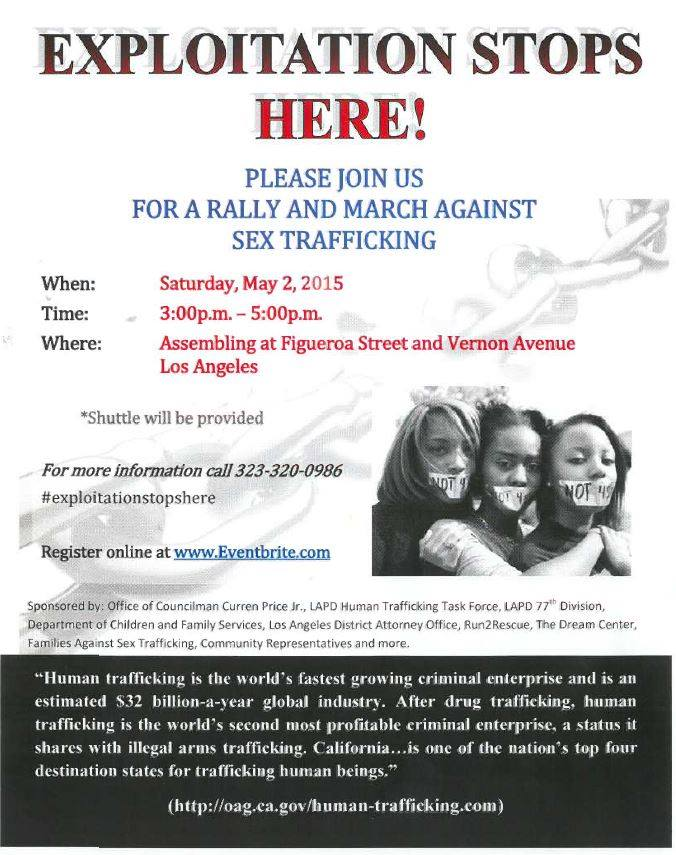 Rally and March against sex trafficking @ Los Angeles | California | United States