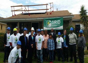 South LA resident gets one of the first solar panel installations in her neighborhood.