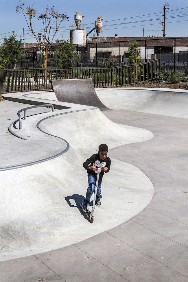 The skate park within Serenity Park, formerly an empty lot. | Photo by Gary McCarthy for LA Wave