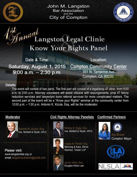 Langston Legal Clinic & Know Your Rights Panel @ Compton Community Center | Compton | California | United States