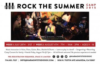 Rock The Summer 2015 Music Camp @ Southwest Police Station | Los Angeles | California | United States
