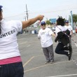 United Healthcare employees jump rope with students at Grape Elementary School.