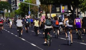 Bikers at the last CicLAvia event.