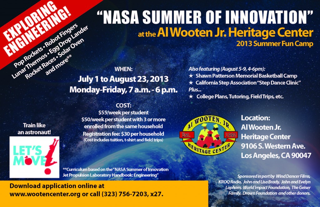 Wooten 2013 Summer Fun Camp -- Exploring Engineering final flyer (1)