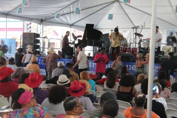 Cuba LA performing at the 18th Annual Central Avenue Jazz Festival.