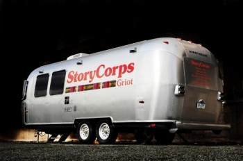 StoryCorps' MobileBooth—an Airstream trailer outfitted with a recording studio