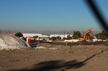 Construction at Rodeo and Crenshaw for the District Square retail center. Photo credit:  Willa Seidenberg