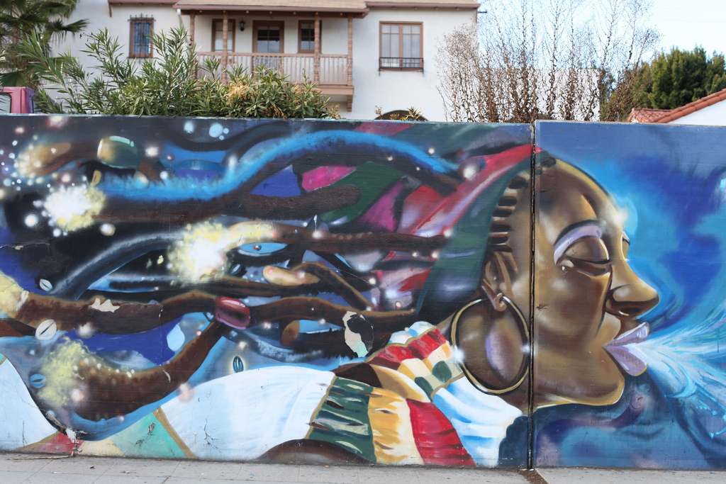 Mural on Crenshaw Blvd. in South LA. | Stephanie Monte