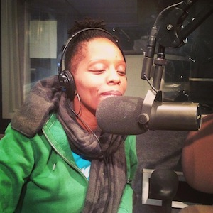 Coalition Founder, Patrisse Cullors, speaks out against the Prison Industrial Complex on 90.7 FM Flip the Script | Photo Courtesy Facebook page