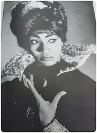 Grace Bumbry, opera singer, portraying Eboli in Verdi's Don Carol at the NY Metropolitan Opera | Photo Courtesy of the Mayme A. Clayton Library & Museum Photo Collection