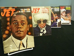 Mayme A. Clayton Library & Museum features classic issues of Jet Magazine | Photo Courtesy of Mayme A Clayton Library & Museum