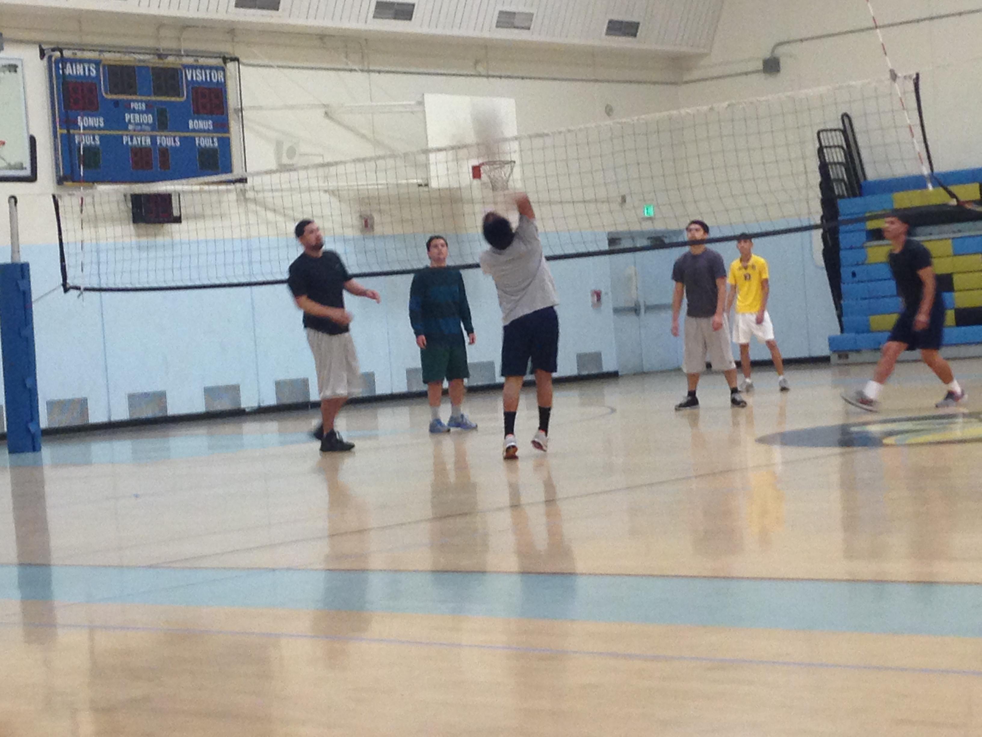 Andy Garcia on the basketball court   Jennifer Velez