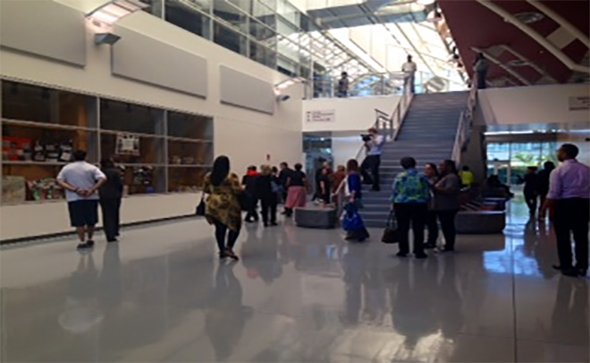 The first floor of the new library at El Camino College Compton Center | Mona Khalifeh