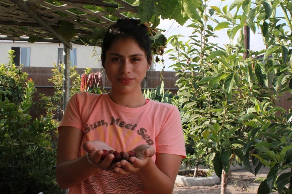 The author in her garden. | Ashley Hansack