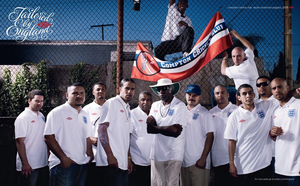 Brandon with the Compton Cricket Club  |Photo courtesy of Flickr/umbro umbro