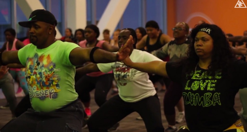 Zumba class at the Baldwin Hills Mall. | Daniel Jimenez
