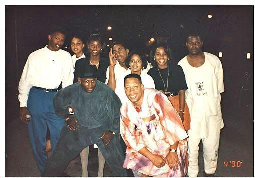 Michael Williams (front row, right) with comedians, including Jamie Foxx (far left) | Courtesy Michael Williams