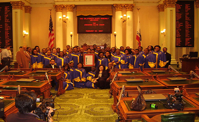 The Crenshaw Choir performed at the State Capitol in Sacramento in February 2007. | Amanda Scurlock