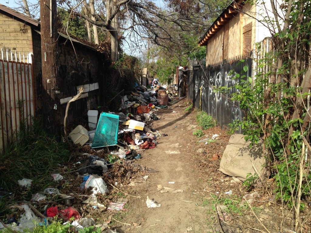 South L.A. alleys have been plagued by illegal dumping. | Daina Beth Solomon